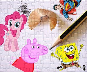 Puzzles Kreslené postavičky