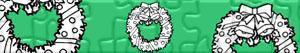 Puzzle Vánoční věnec a girlandy