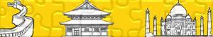 Puzzle Památek a dalších a turistické zajímavosti v Asie