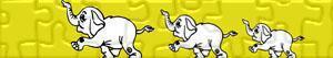 Puzzle Sloni