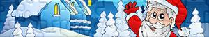 Puzzle Santa Claus, sob polární a elfové